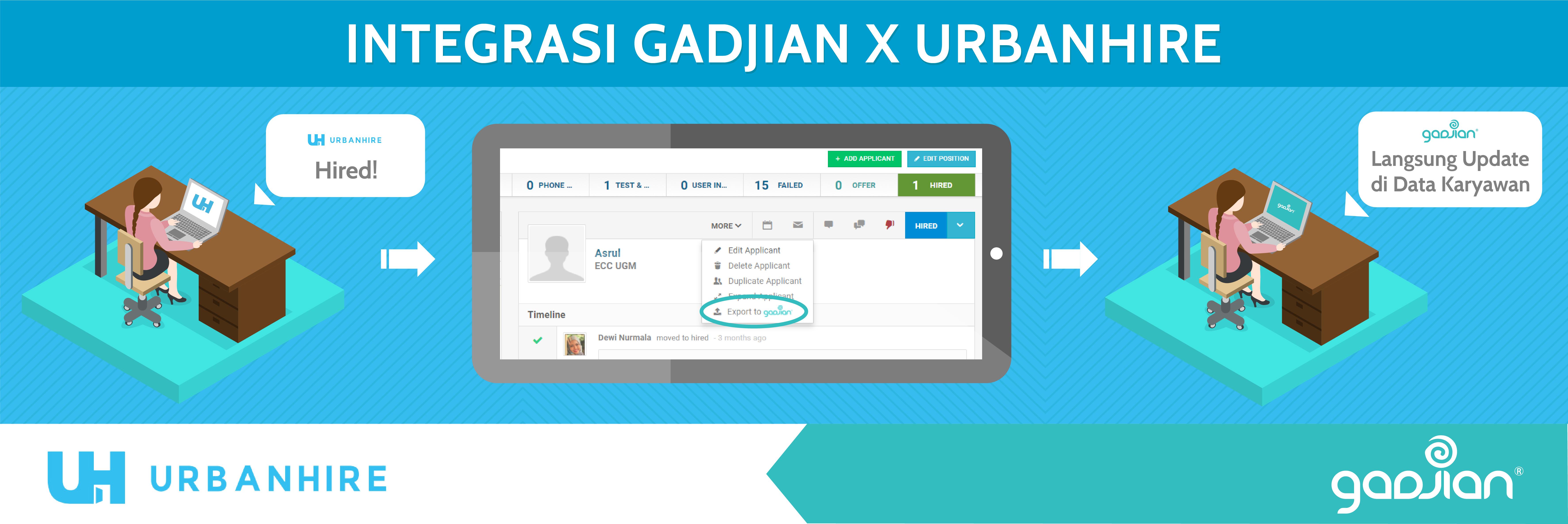 Integrasi Situs Kerja Urbanhire dengan Software Aplikasi HR Gadjian