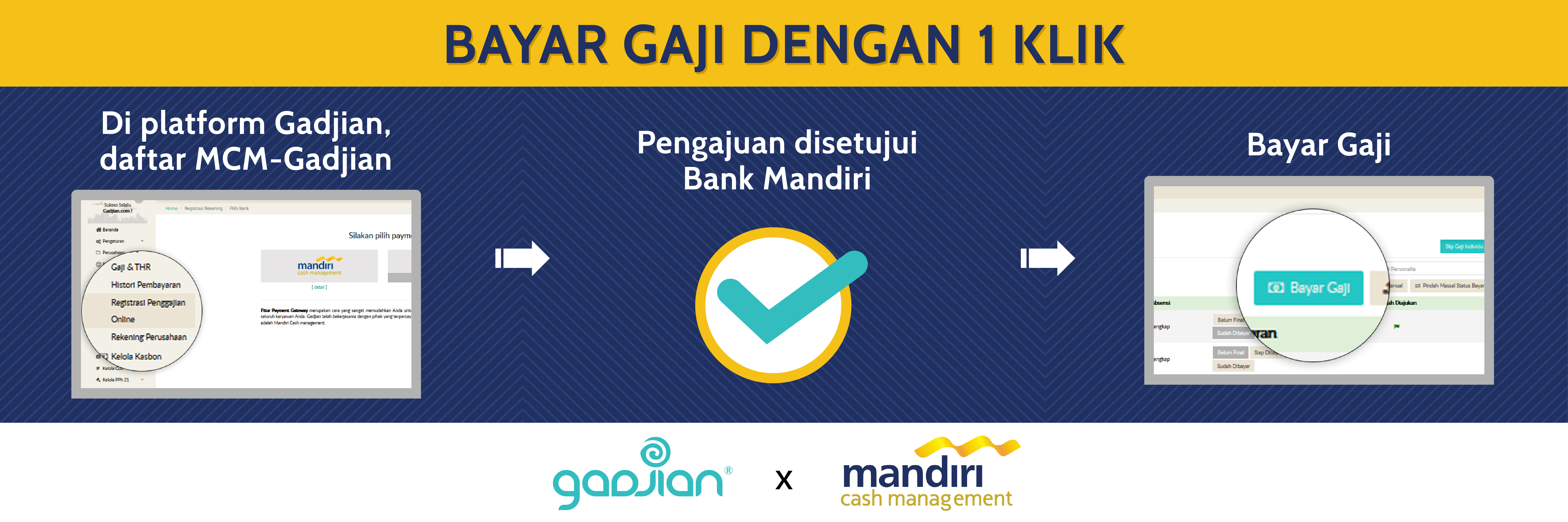 Integrasi Aplikasi Pembayaran Gaji Gadjian dan Mandiri Cash Management (MCM) | Gadjian