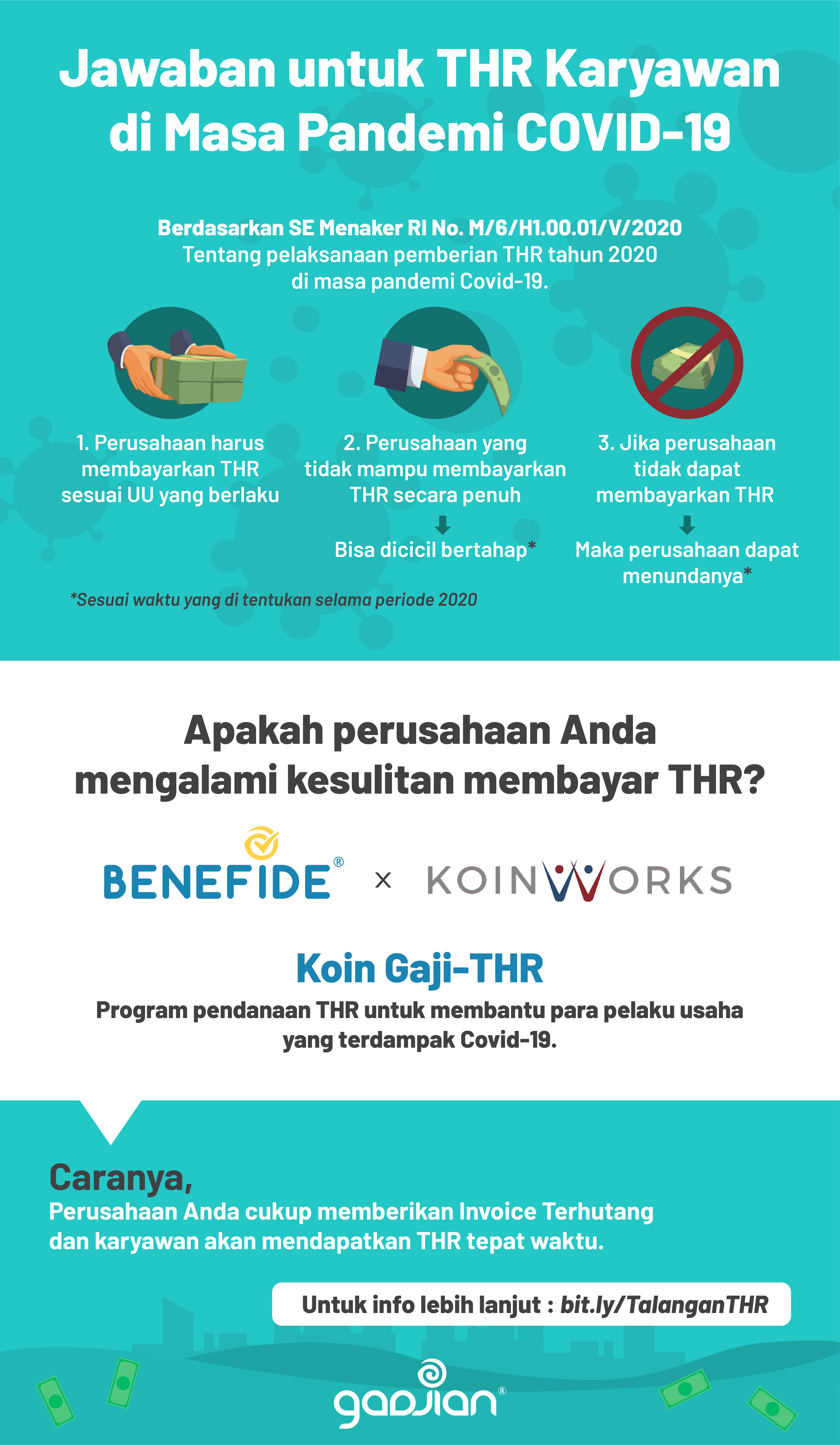 Poster Infografis Dana Talangan THR Karyawan 2020 Bagi Pelaku Usaha