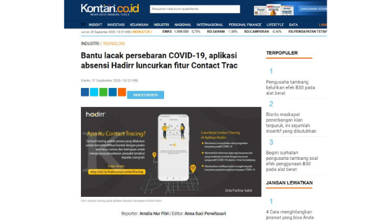 contact tracing indonesia