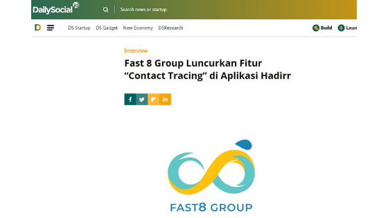 fast-8 grup luncurkan contact tracing