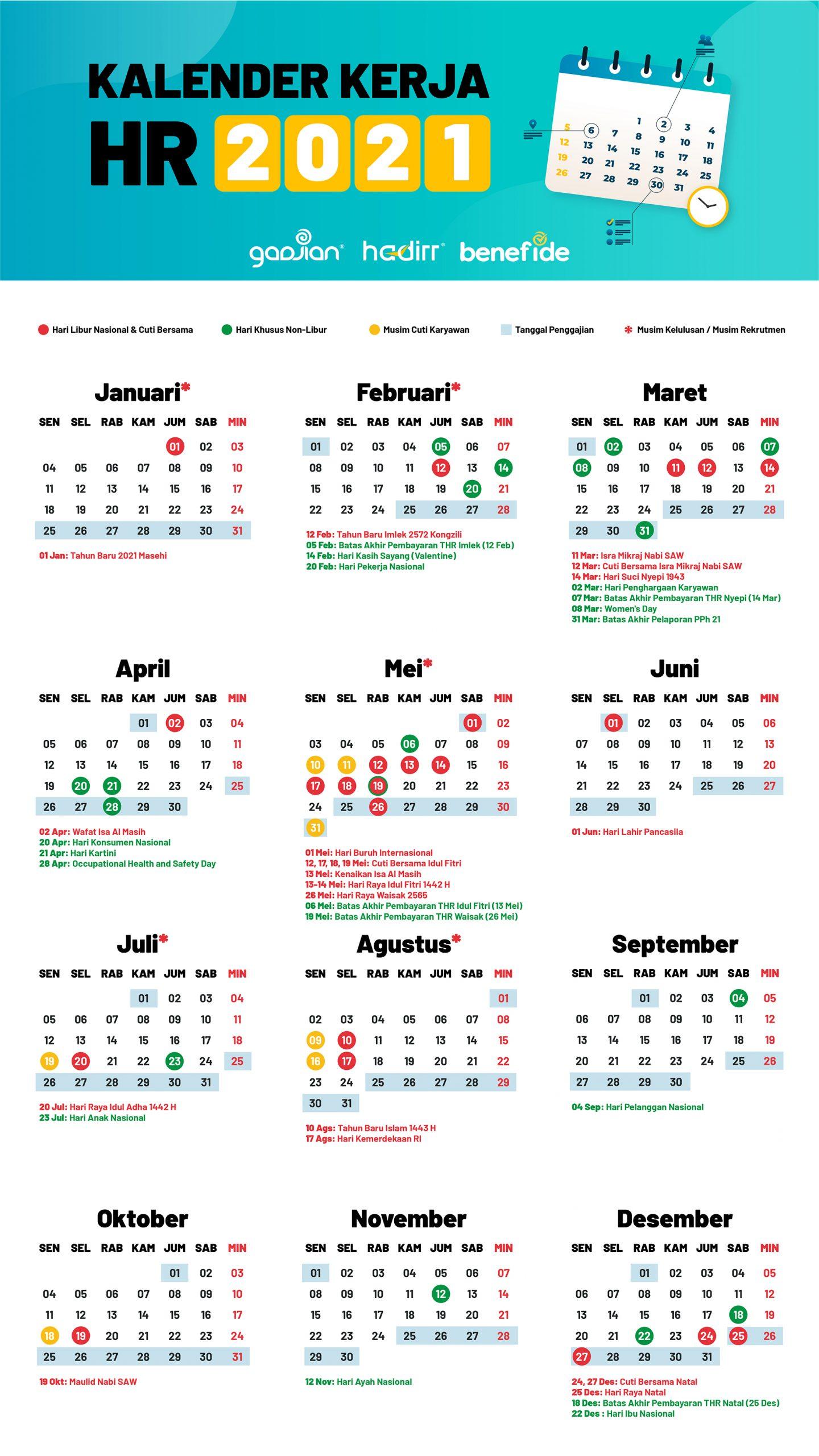 Kalender HR 2021 Lengkap dengan Jadwal Libur dan Cuti ...